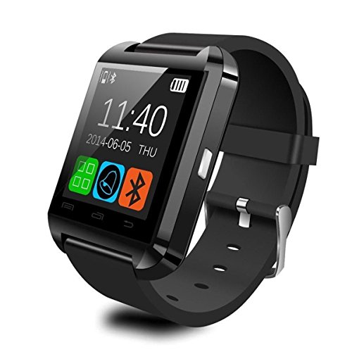Fitness Tracker, Pandaoo Wearable Bluetooth Smart Watch U8 Smart Health Pedometer Sleep Monitor Call/SMS/SNS Alert Wrist Watch Phone Uwatch with SIM Card Camera Slot for Android Samsung HTC LG SONY Huawei [Full Functions] IOS iPhone 5/5s/6/7/8/8plus iPhone X [Partial functions]