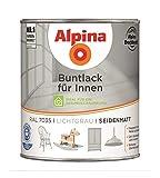 Alpina Buntlack Metalllack 0,75L lichtgrau Ral 7035 seidenmatt Innen