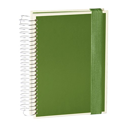 Semikolon (351558) Mucho Spiral-Notizbuch mit 3 Liniaturen in irish (dunkel-grün) | Je 110 kariete, linierte u. blanko Seiten | Organizer