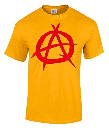 Anarchy A Punkrock Shirt Viva La Revolucion Gr. S-XXXL Gold
