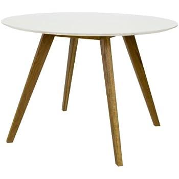 Tenzo 2181-001 Bess - Designer Esstisch rund, weiß