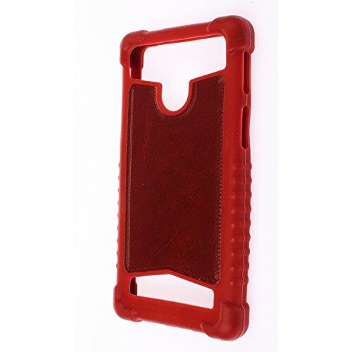 "MISEMIYA - Funda Universal Para Smartphone - 4# 4.8""-5.2""(7*14cm), Rojo"