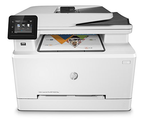 HP Color LaserJet Pro M281fdw Multifunktions-Farblaserdrucker, Laserdrucker (Drucken, scannen, kopieren, Faxen, WLAN, LAN, Duplex, Airprint) weiß (X Color 4)