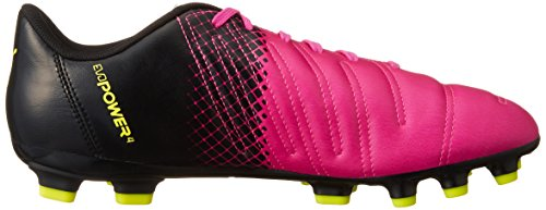 Puma evoPOWER 4 3 Tricks Artificial Ground  Men s Football Boots  Pink  Pink Glo Safety Yellow Black   6 UK  39 EU