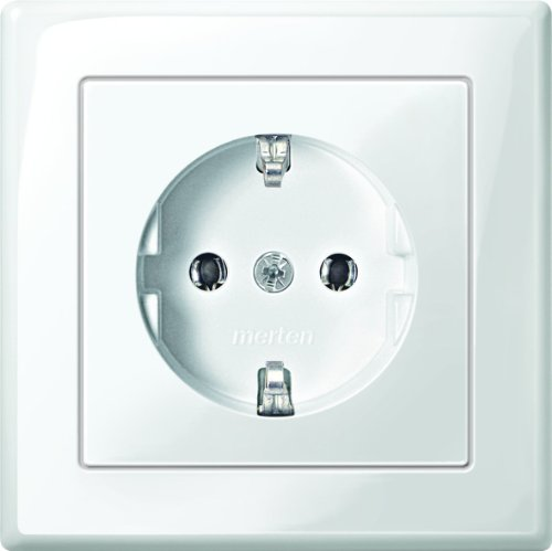 Price comparison product image Merten,  Schuko Socket Plate and Clamp Fit azionament M-SMART White,  MEG 2301-1419