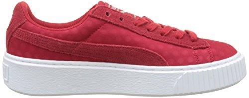 Puma Damen Basket Platform De Sneaker Rot (Toreador-Toreador)