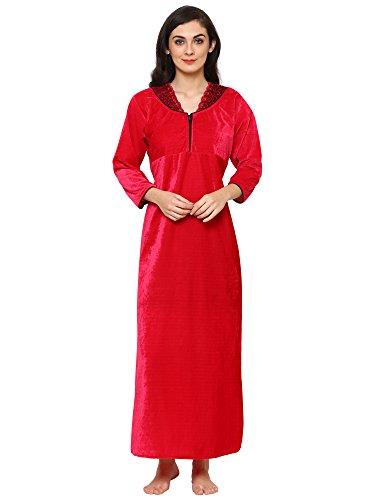 Klamotten Velvet Warm Long Women Maxi Nightwear
