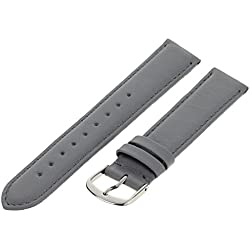 Pure grey Leather Strap Chur 71S/29 18mm