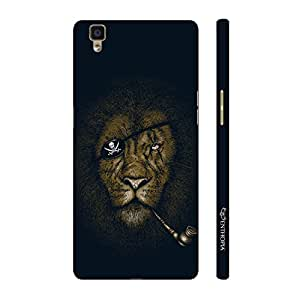 Enthopia Designer Hardshell Case Lion Piracy Back Cover for Oppo R7s