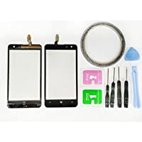 JRLinco ForNokia Lumia 625 N625Glass Screen Display Touchscreen Replacement part(Without LCD) For Nokia N625Black + Tools & Double-sided adhesive + Cleaning alcohol Wiping package