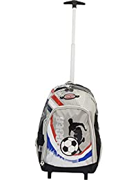 """Simba Winner Team France 16"""" Trolley Bag Boys & Girls Black With Red/White/Blue Wheeled Travel Backpack/Rucksack Dusty Fire & Rescue with Telescopic Handle & Padded Shoulder Straps for Short Breaks an"""