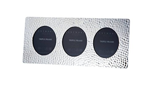 Preisvergleich Produktbild Wentworth Zinn–gehämmert Zinn Triple Bilderrahmen/Bilderrahmen–110mm x 255mm