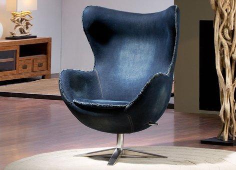 Moderne Designer Sessel : Modell EGG JEAN 82x112x80 (Haushaltswaren)