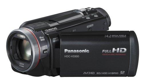 Panasonic HDC-HS900EGK Full HD Camcorder (220 GB Festplatte, 12-fach opt. Zoom, 8,8 cm (3,5 Zoll) Display, Bildstabilisator, 3D kompatibel) schwarz
