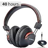 Avantree 40 Horas aptX Hi-Fi Auriculares Diadema Bluetooth Inalambricos para TV con micrófono, Over Ear Extra Cómodos y Ligeros, NFC, Inalámbrico/con Cable Modo Dual - Audition [2 años de garantía]