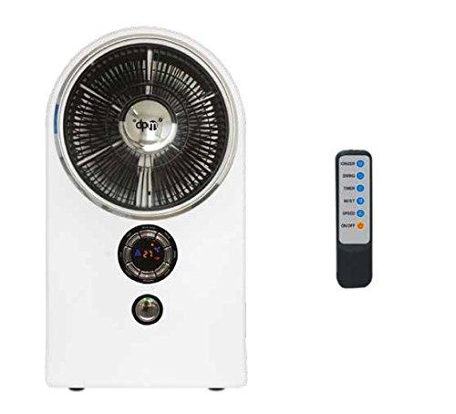 3 Säule Stehlampe (DPM giulia2Ventilator raffrescatore Ionisator Luftbefeuchter Säule Stehlampe mit Zerstäuber Luftbefeuchter und Fernbedienung Timer mit Abschaltung-Leistung 80W-Timer 9hours-Funktion gegen Mücken)