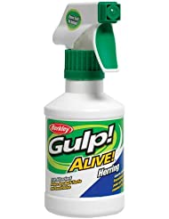 Berkley Gulp! Alive!  Alive! Cebo de pesca en spray Herring Talla:8