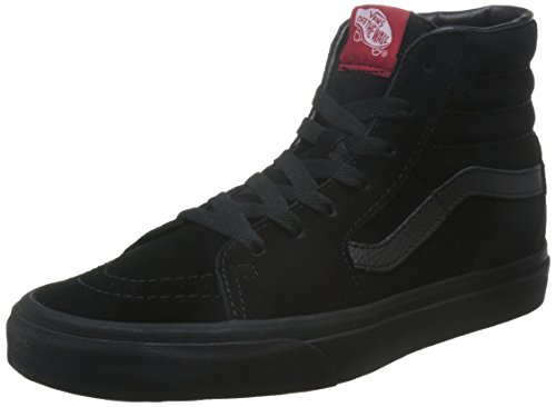 Vans U Sk8 Hi - Baskets Mode Mixte Adulte - Noir (Black/Black) - 35 EU (Taille Fabricant : 4 US)