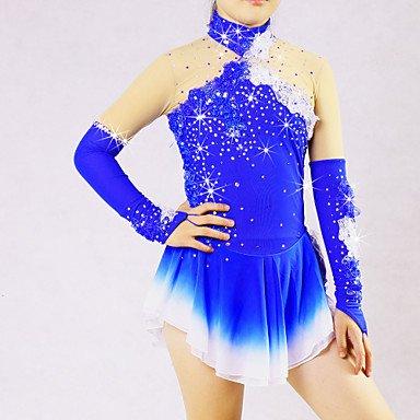 Heart&M Damen Langarm Eislaufen Winter Sport Röcke Kleider Hochelastisch Eiskunstlauf-Kleid Elasthan Chinlon Eiskunstlaufkleidung Solide , (Eiskunstlauf Für Kostüme Frauen)
