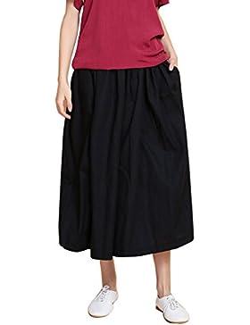 Elegante Mujer Pantalones Anchos Palazzo Pantalones lino Comodo y Moderno