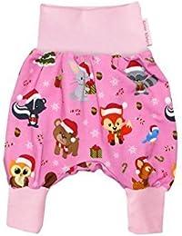 "Baby Pantalons bouffants ""Noël"" rose Sarouel Pantalon jersey de Kleine Könige"