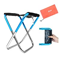 Yooap Outdoor Folding Chair, Portable Foldable Ultralight Aluminum Ideal Camping Travel Stool Fold Up Fishing Stool Backpacking Seat Stool