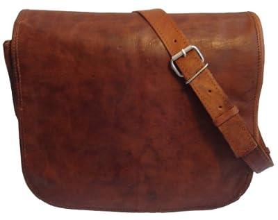 Gusti Leder M1 - Bolso bandolera de piel(tamaño mediano), estilo vintage de Gusti Leder