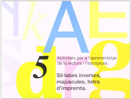nº 5 Síl·labes inverses, majúscules, lletra d'impremta. por Editorial Nadal