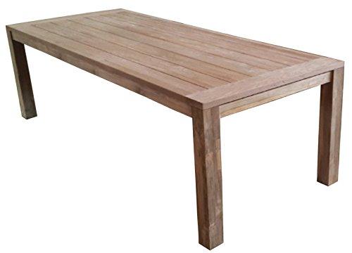 PEGANE Table en Teck recyclé - Dim : 250 x 100 cm