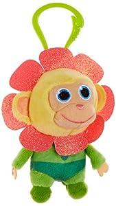 Joy Toy 31050 Wonderpark Wunderaffen - Peluche con Clip (8 cm), diseño de Flor, Multicolor