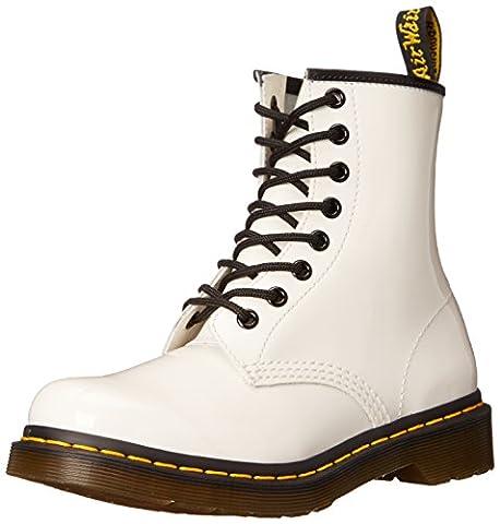 Dr. Martens 1460 Patent WHITE, Damen Bootsschuhe, Weiß (White), 36 EU (3 Damen UK)