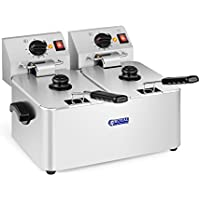 Royal Catering Freidora Doble Industrial Eléctrica Profesional RCEF 08D-EGO (2 x8 Litros,