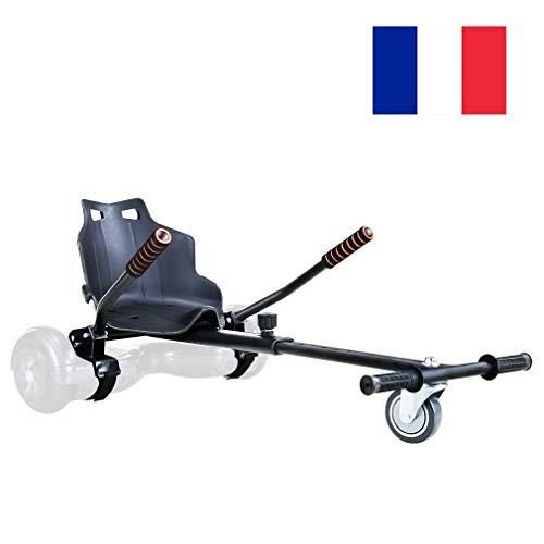 GiroSmart Chaise Kart Seat pour Self Balancing Scooter électrique Scooter Compatible avec 6.5, 8 et 10 Pouces Skateboard Électrique Hoverkart pour Enfant et Adulte, Noir