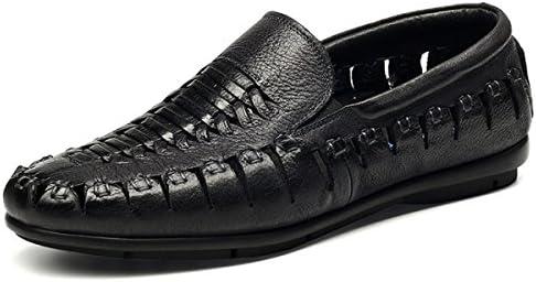 FZHLY Zapatos De Hombre Zapatos De Cuero Zapatos Casuales Para Fiesta $ Noche,Black-41