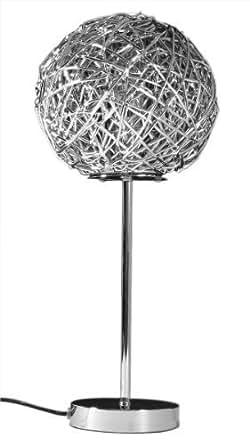 moderne tischlampe draht geflecht tischleuchte 46 cm x 22cm schreibtischlampe. Black Bedroom Furniture Sets. Home Design Ideas