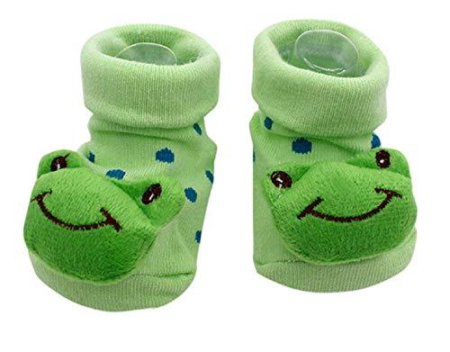 Inception Pro Infinite rutschfeste Socken - Kinder - Kleinkind - 0 - 12 Monate - Schnittmuster - Frosch - Grüner Pois - Männchen - Femina - Unisex -