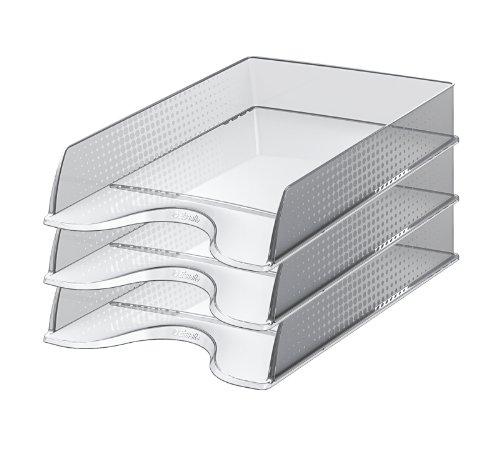 Esselte Fusion 623689 Lot de 10 Corbeilles à courrier Transparent