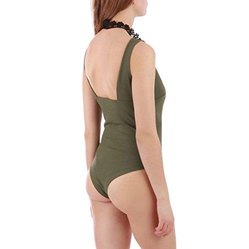 La Modeuse - Body femme sans manches Vert