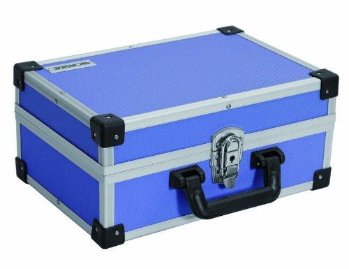Alu Werkzeugkoffer, Werkzeugkasten, Werkzeugaufbewahrung, blau, ca. 33 x 23 x 15 cm