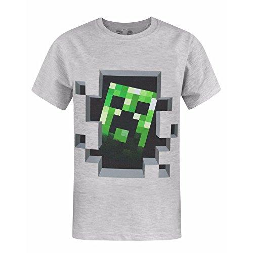 Galleria fotografica Minecraft - Maglietta Ufficiale Manica Corta con Creeper - Bambino