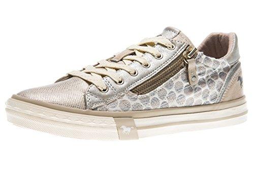 Mustang Damen Sneaker Silber/Grau, Schuhgröße:EUR 44