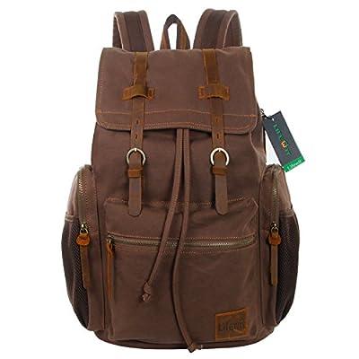 Lifewit 17 inch Large Canvas Backpack Unisex Vintage Casual Rucksack Laptop Bags School Bookbag Hiking Travel Daypacks