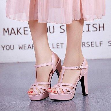 LvYuan Da donna-Sandali-Formale Casual Serata e festa-Altro-Quadrato-PU (Poliuretano)-Nero Rosa Bianco Beige Pink