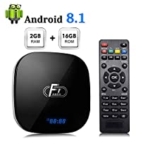 ‏‪Android TV Box 8.1 A95X F1 Amlogic S905W Quad-Core CPU 2GB RAM 16GB ROM Support 3D 4K and 2.4G WiFi 10/100M Ethernet‬‏
