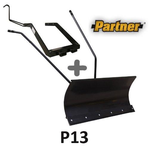 Lame à Neige 118 cm Noire + adaptateur pour Partner P13