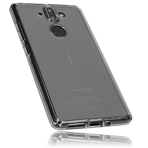mumbi Schutzhülle für Nokia 8 Sirocco Hülle transparent schwarz