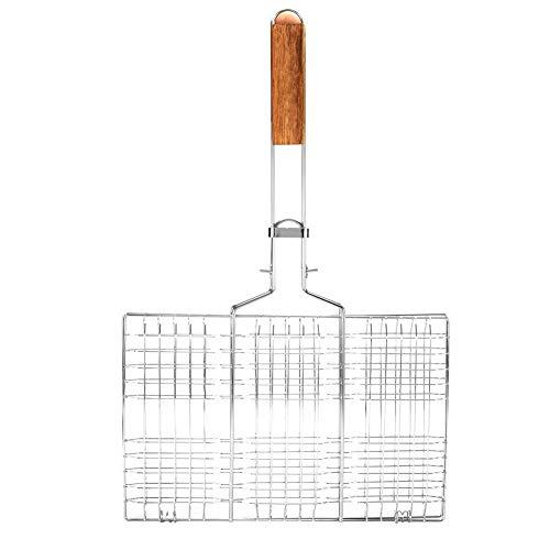 Grill Basket, BBQ Wire Mesh Grill Net Barbacoa Profesional Clip de Pescado...