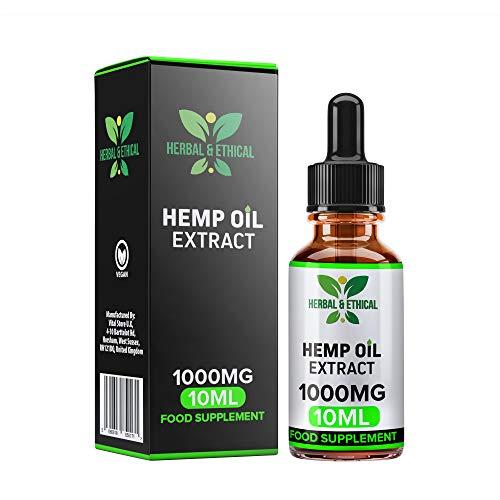 Gotas de aceite de cáñamo a base de hierbas y éticas 10% 1000MG 10 ml de alta resistencia - Gran...