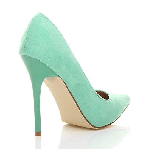 Scarpe eleganti verde menta Taglia 6 NUOVO LOOK