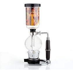DecentGadget® Coffee Syphon / Vacuum Glass Coffee Maker Verre café Syphon / vide bouilloire